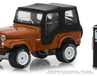JEEP CJ-5 with Vintage Gas Pump 1974 Copper Metallic