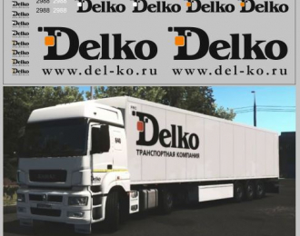 Набор декалей Транспортная компания Delko (вариант 2) (140х70)