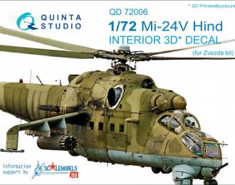 3D Декаль интерьера кабины Ми-24В (для модели Звезда)