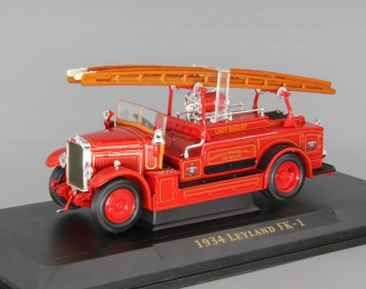 LEYLAND FK-1 (1934), Fire Engine, red