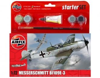 Сборная модель Немецкий истребитель Messerschmitt BF.109 E (Подарочный набор)