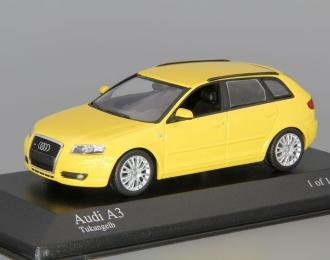 AUDI A3 Sportback (2004), yellow