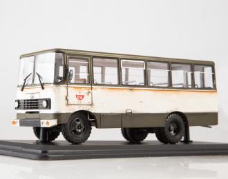 Штабной автобус Прогресс-35 (со следами эксплуатации), хаки / белый