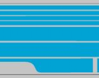 Набор декалей полосы на низ для Трамвая КТМ-5М3 голубой (100х360)