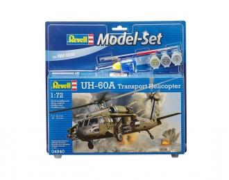Сборная модель Американский военный вертолет UH-60 (Подарочный набор)
