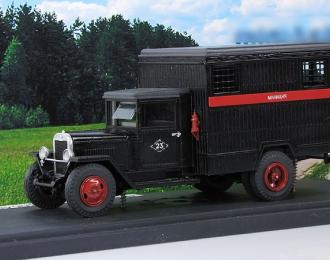 ЗИС-44 автозак Милиция, черный