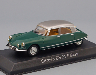 CITROËN DS21 Pallas (1967), jura green / silver
