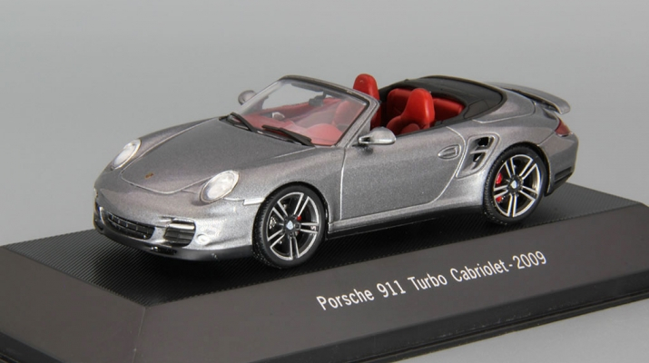 (Уценка!) PORSCHE  911 Turbo Cabriolet (2009), grey metallic
