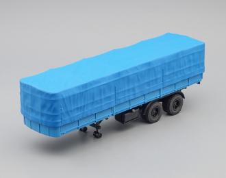 МАЗ 5205 полуприцеп с тентом, синий