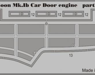 Фототравление для Typhoon Mk. Ib Car Door двигатель