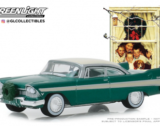 PLYMOUTH Belvedere with Wreath Accessory 1957 Green