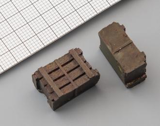 Ящик деревянный средний (окрашенный, 730 x 500 x 340 мм), цена за шт.