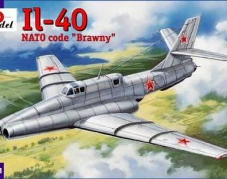 Сборная модель Советский опытный штурмовик Ил-40-2