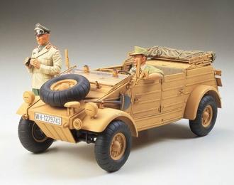 Сборная модель Немецкий Kubelwagen Type 82 - Africa Corps, с фигурой водителя и фельдмаршала Роммеля.