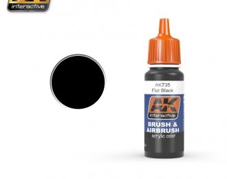 Краска акриловая FLAT BLACK (черный)