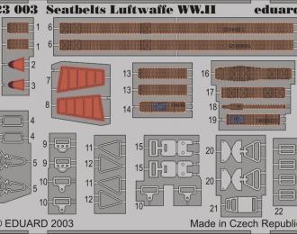 Фототравление привязные ремни для Seatbelts Luftwaffe WWII