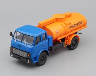 """(Уценка!) МАЗ Топливозаправщик АС-8 """"Огнеопасно"""", синий / оранжевый"""