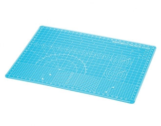 Пластик А4 для разметки, резки и дизайнерских работ (не повреждается) голубого цвета