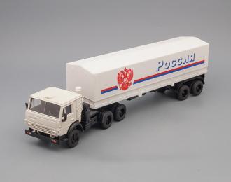 """Камский грузовик 5410 тягач с полуприцепом""""РОССИЯ"""", белый"""