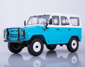 УАЗ-31514, голубой / белый