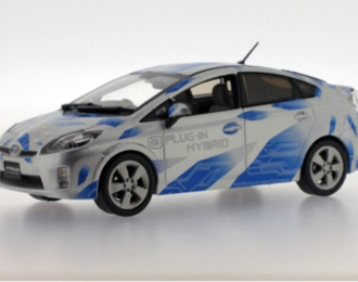 TOYOTA Prius II Plug In version (2010), white with blue