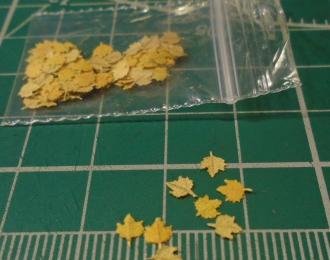 Листья для диорам Клен желтый