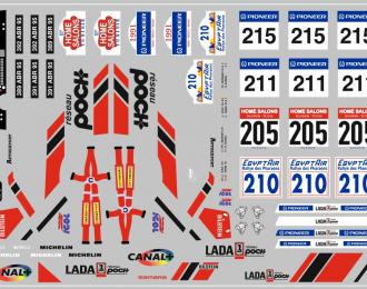 Набор декалей ВАЗ LADA спорт (вариант6) (100х70)