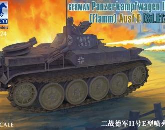 Сборная модель German Panzerkampfwagen II (Flamm) Ausf.E (Sd.Kfz.122)