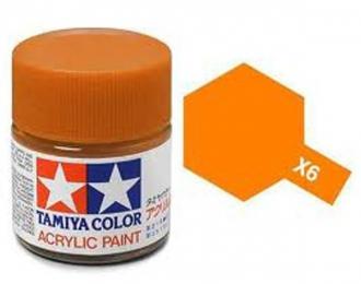 X-6 Orange (краска акриловая, оранжевый глянцевый), 10 мл.