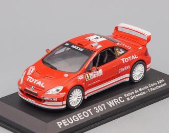 PEUGEOT 307 WRC #5 Rally Monte Carlo (2004), красный