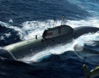 Сборная модель Подводная лодка Russian Navy SSN Akula Class Attack Submarine