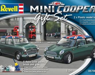 Сборная модель Mini Cooper (Подарочный набор, две модели)