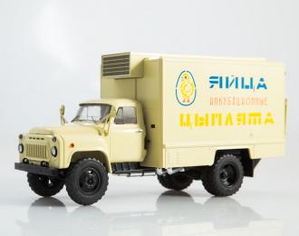 Фургон для перевозки яиц и цыплят ШЗСА-3716 (53), бежевый