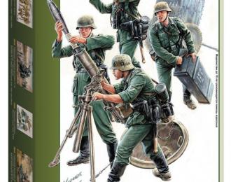 Сборная модель Немецкий 120-мм миномёт с расчетом и зарядным ящиком