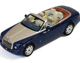 ROLLS-ROYCE Phantom Drophead Coupe (2007), blue / dark white interiors