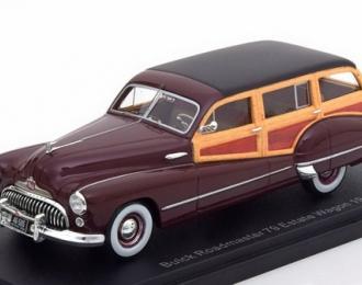 BUICK Roadmaster 79 Estate Wagon (1947), dark red / wood