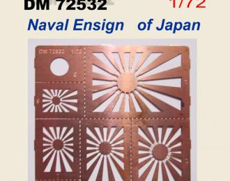 трафарет  японский флаг NAVAL