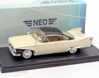 PLYMOUTH Fury Coupe (1960), light beige / black