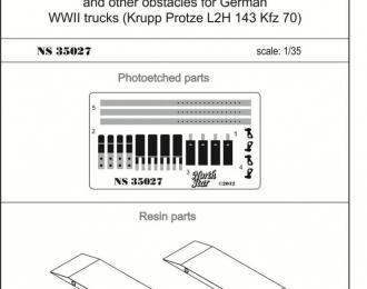 Набор для доработки Деревянные доски для самовытаскивания немецких грузовых автомобилей (Krupp Protze L2H 143 Kfz 70)
