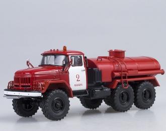 ЗИЛ 131 АЦ-4.0  пожарный, красный