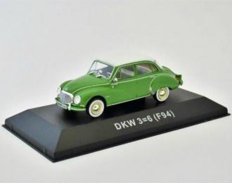 DKW 3=6 Saloon (F94) 1957 Green & White