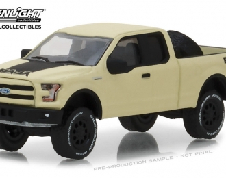 FORD F-150 pick-up with Baja Tire Carrier 2016 Beige