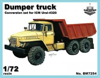 Конверсионный набор Самосвал на шасси Миасского грузовика (для ICM)