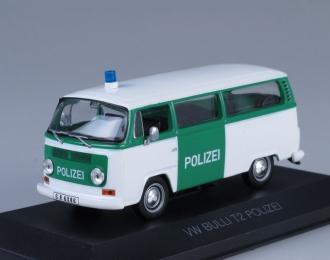 VOLKSWAGEN Bulli T2 Polizei Fensterbus, white / green