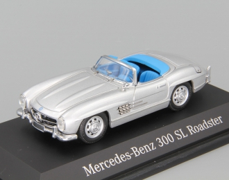 MERCEDES-BENZ 300 SL Roadster, silver with blue interior