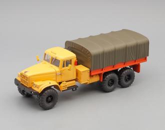 КРАЗ 255Б бортовой с тентом (1969), оранжевый