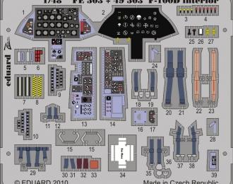 Цветное фототравление для F-100D interior S. A.
