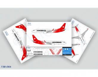 Декаль для Boeing737-800, Bees Airline