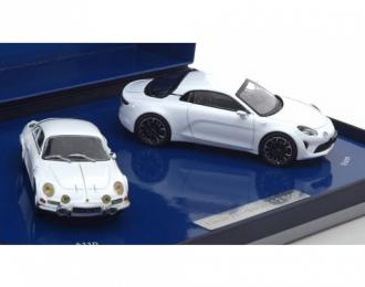 набор из 2 моделей ALPINE A110 1973 & Vision 2016 Metallic White