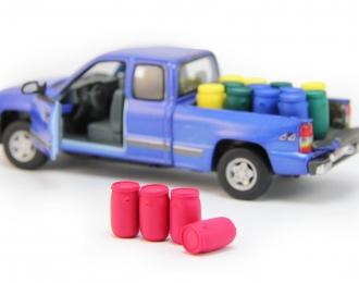 Набор пластиковых евробочек (65 литров) 4 шт, красный